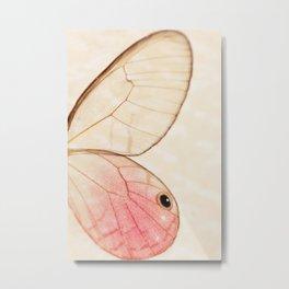 Pink Glasswing 1 Metal Print
