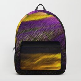 Sunset over Lavender Fields Landscape Painting by Jeanpaul Ferro Backpack
