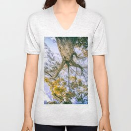 They didn't know how beautiful the earth could be until they left the block Unisex V-Neck