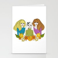 60s Stationery Cards featuring 60s girls by Bunny Miele