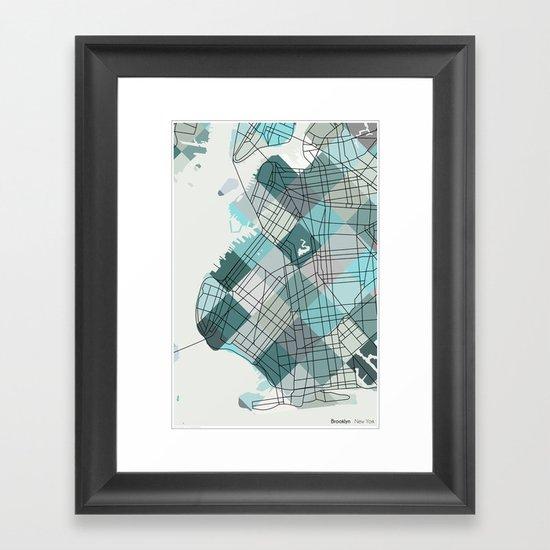 Brooklyn NY Framed Art Print