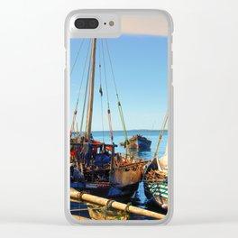 Dhow Boats Stone Town Port Zanzibar Clear iPhone Case
