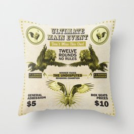 THE ROOSTERS & THE EAGLE Throw Pillow