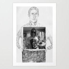 Ryan Gosling wearing Macaulay Culkin wearing Ryan Gosling wearing Macaulay Culkin  Art Print