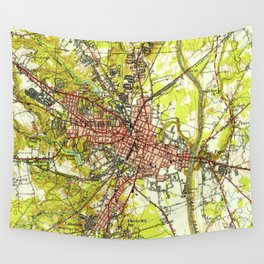 Vintage Map of Fayetteville North Carolina (1948) Wall Tapestry