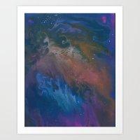 Fox Fur Nebula Art Print
