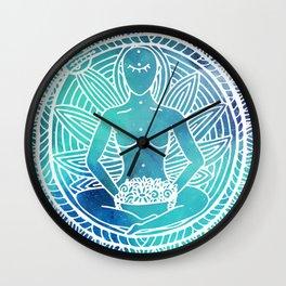 Meditation Sun Mandala Wall Clock