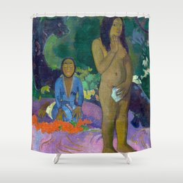 "Paul Gauguin ""Parau na te Varua ino (Words of the Devil)"" Shower Curtain"