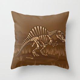 Extinct Lil' Spinosaurus Throw Pillow