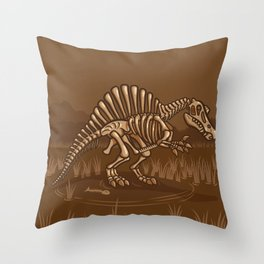 Extinct Lil' Spinosaurus Throw Pillow
