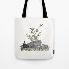 The Beginning Is The End Is The Beginning Tote Bag
