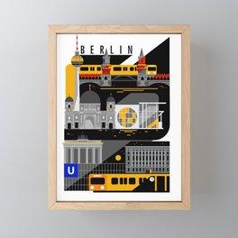 Berlin at Night Framed Mini Art Print