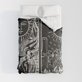 The Sun and Moon Tarot Cards   Obsidian & Pearl Comforters