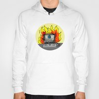 internet Hoodies featuring Internet Exploder by illarterate