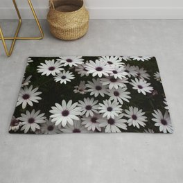 White African Daisies In A Flower Bed Rug
