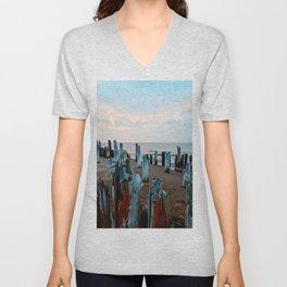 Sentinels at Sunset Unisex V-Neck