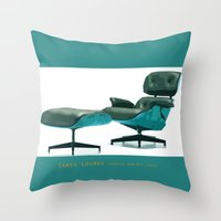 eames Throw Pillows featuring Eames by Retale