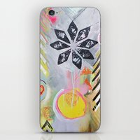 """flora bowley iPhone & iPod Skins featuring """"Intermix"""" Original Painting by Flora Bowley by Flora Bowley"""