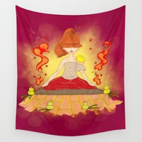 meditation Wall Tapestries featuring Meditation by KeijKidz