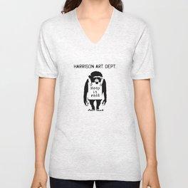 Harrison Art Dept Unisex V-Neck