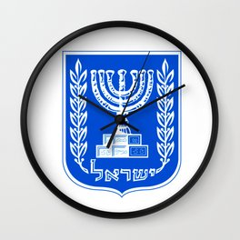 Crest of the State of Israel Wall Clock