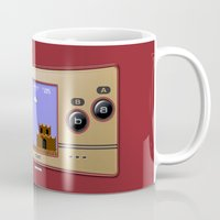 gameboy Mugs featuring Gameboy Micro Classic by alifart