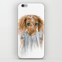 puppy iPhone & iPod Skins featuring Puppy by Leslie Evans