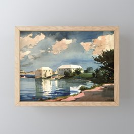 Salt Kettle Bermuda 1899 By WinslowHomer   Reproduction Framed Mini Art Print