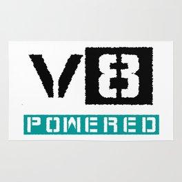 V8 powered blue Rug