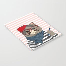 French Cat Notebook