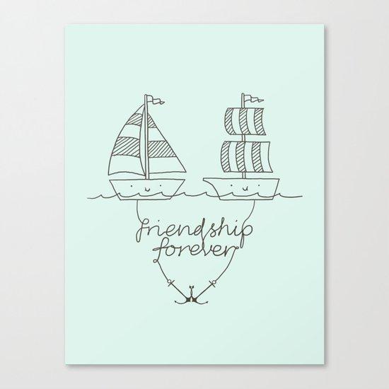Friendship forever Canvas Print