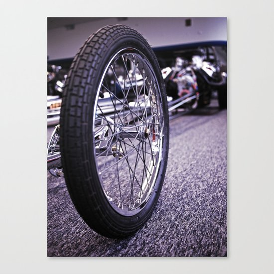 Drag racer wheel Canvas Print