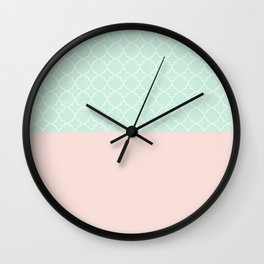 Vintage Blue, Classic Pink Wall Clock