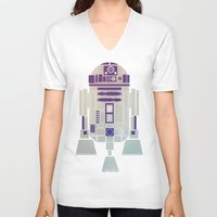 starwars V-neck T-shirts featuring StarWars R2D2 by Joshua A. Biron