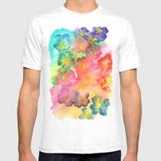 Spring Colours White Mens Fitted Tee MEDIUM