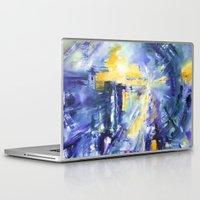 battlestar galactica Laptop & iPad Skins featuring Galactica by Maureen Campbell Art