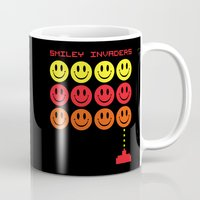 gaming Mugs featuring Smile Invaders Gaming Quote by EnvyArt