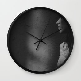 woman sadow Wall Clock