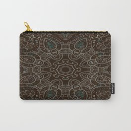 Earth Tones Paisley Mandala Carry-All Pouch