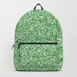 Spacey Melange - White and Green Backpack