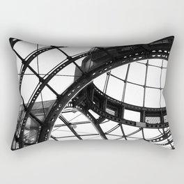 B&W Domed Roof Rectangular Pillow