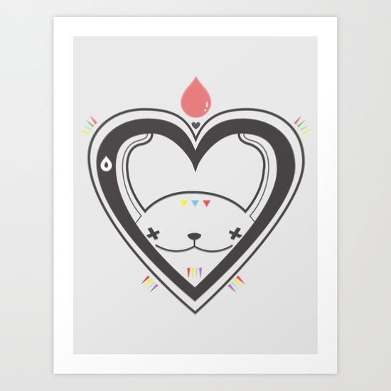 HEART ♥ DROP Art Print