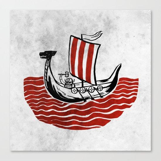 Lone Viking Canvas Print
