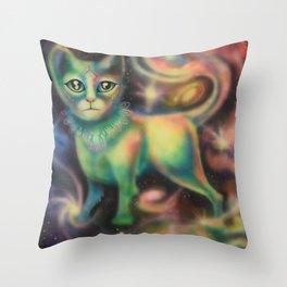Cosmic Kitten Throw Pillow