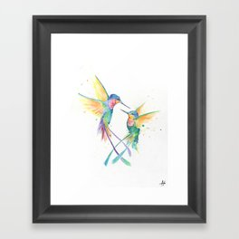 Hopeful Hummingbirds Framed Art Print