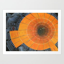 Large Funky Collider Art Print