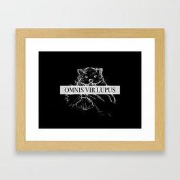 Everyone A Wolf Framed Art Print