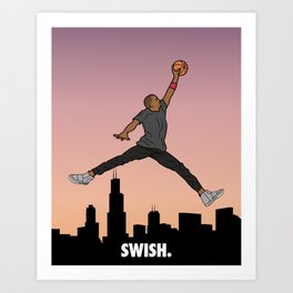 Swish Art Print