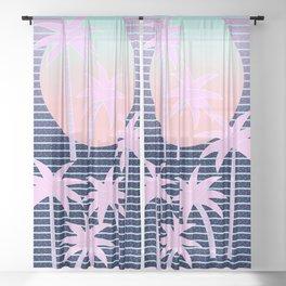 Hello Miami Moonlight Sheer Curtain