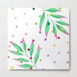 dot leaf Metal Print
